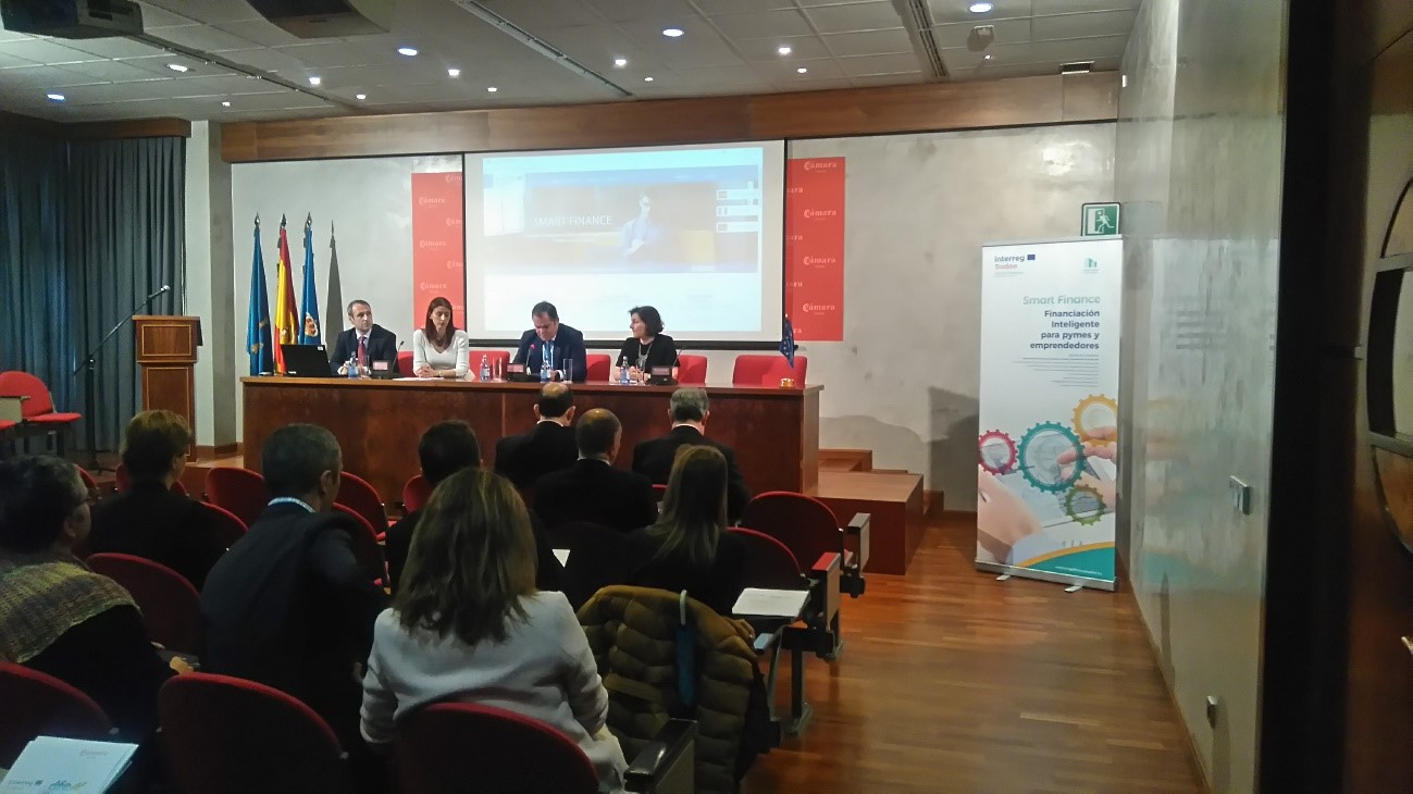 "A CÂMARA DO COMÉRCIO DE OVIEDO ENCERRA ""OS DIAS DE FINANCIAMENTO EMPRESARIAL SMART FINANCE"""