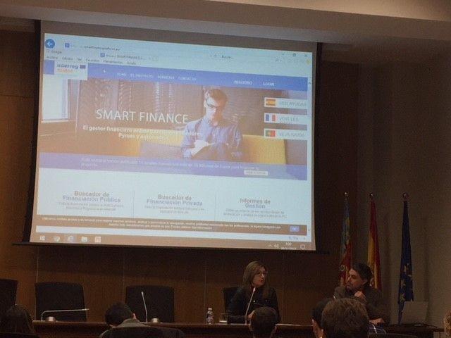 O Conselho das Câmaras de Comércio da Comunidade Valenciana apresenta o projeto SMART FINANCE em Valência.