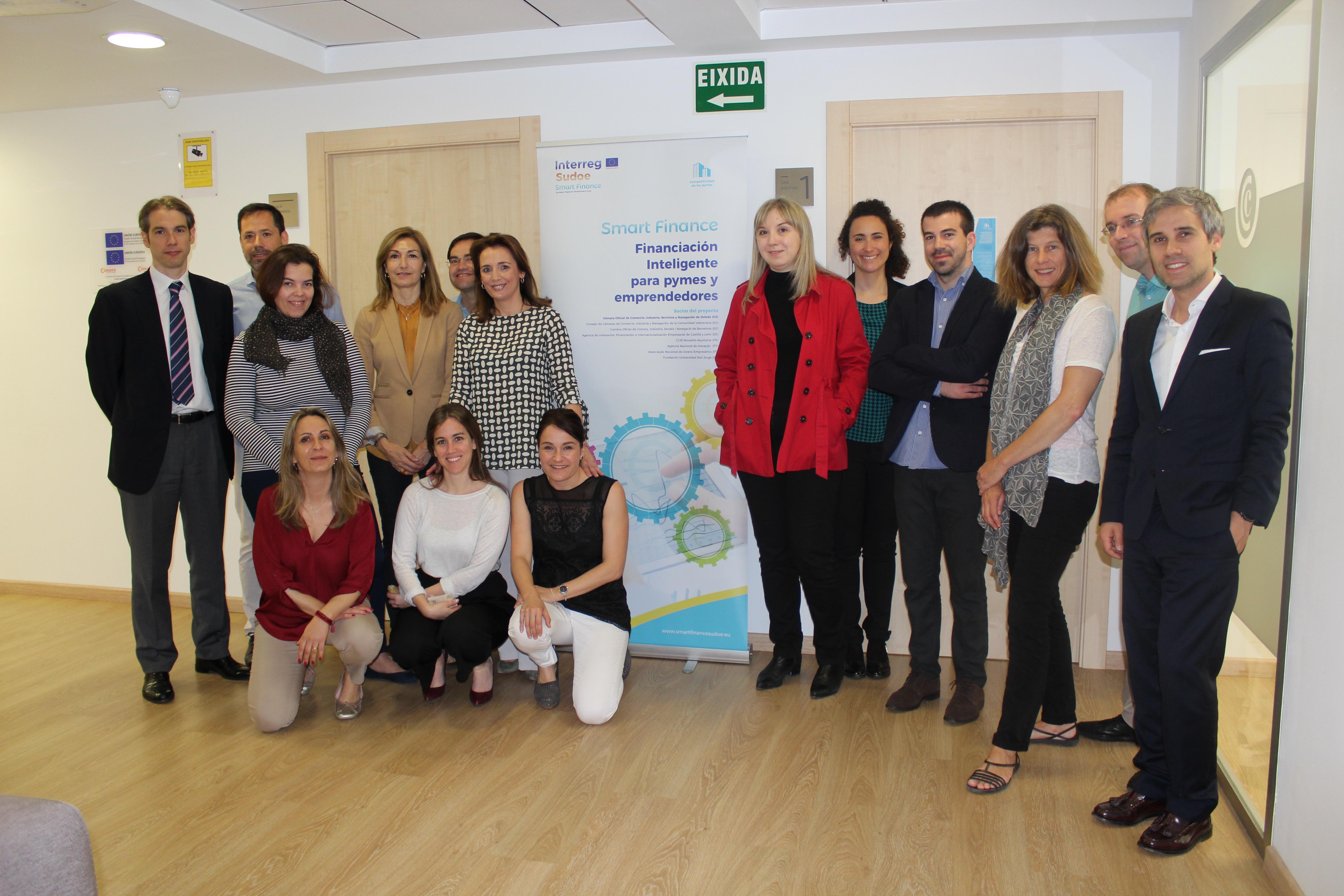 """O Conselho de Câmaras da Comunidade Valenciana organiza a 4ª reunião de parceiros do Projecto Europeu """"SMART FINANCE"""" em Valência"""